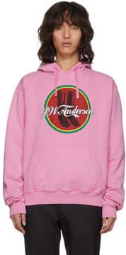 J.W.Anderson Pink Cola Boots Hoodie