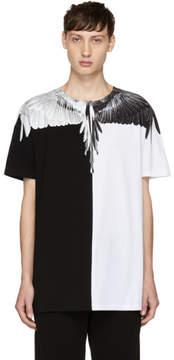 Marcelo Burlon County of Milan White and Black Aish T-Shirt