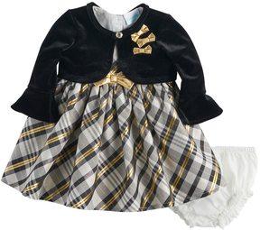 Nannette Baby Girl Plaid Dress & Shrug Set
