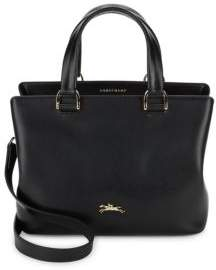 Longchamp Honoré 404 Leather Tote Bag - BLACK - STYLE