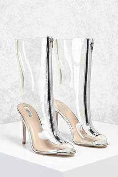 Forever 21 Zipped Clear Stiletto Boots