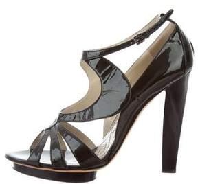 Alberta Ferretti Patent Leather Platform Sandals