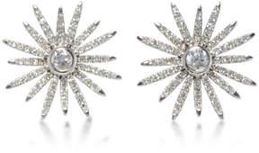 Ef Collection 14K White Gold Diamond Starburst Stud Earrings
