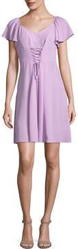BELLE + SKY Short Sleeve Corset Front Dress