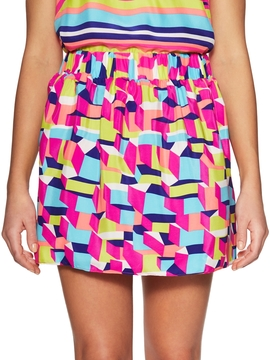 Alice & Trixie Women's Devin Silk Printed Flare Skirt