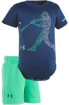 Under Armour Baby Boy Baseball Player Graphic Bodysuit & Mesh Shorts Set