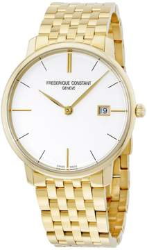 Frederique Constant Slimline FC-220V5S5B Yellow Gold Plated Stainless Steel 38mm Mens Watch