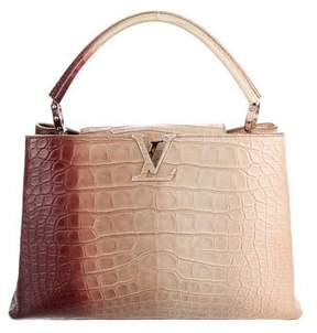 Louis Vuitton Crocodile Brilliant Capucines MM