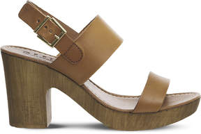 Office Michelle Wood leather sandals