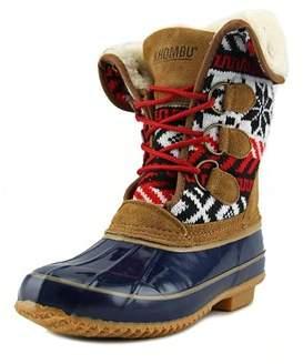 Khombu Jenna Women Round Toe Synthetic Blue Winter Boot.