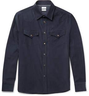 Brunello Cucinelli Cotton-Corduroy Western Shirt