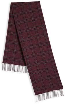 Saks Fifth Avenue Men's Donegal Plaid Scarf