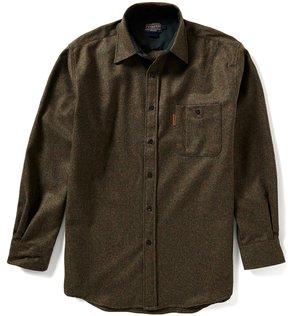 Pendleton Long-Sleeve Elbow-Patch Wool Trail Shirt