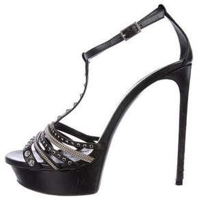 Saint Laurent Studded T-Strap Sandals