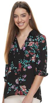 Candies Juniors' Candie's Printed Lace Blouse
