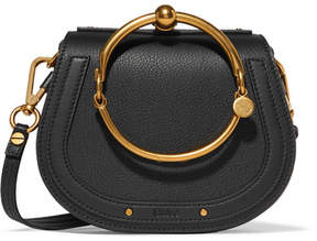 Chloé - Nile Bracelet Small Textured-leather Shoulder Bag - Black