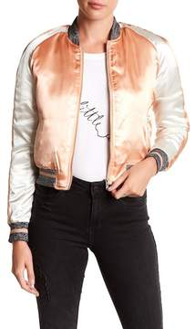 Noisy May Drive Embroidered Parrot Bomber Jacket