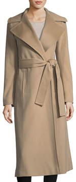 Fleurette Notch-Collar Cashmere Long Wrap Coat
