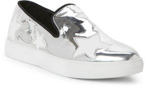 Wild Diva Silver Cala Star Slip On Sneakers