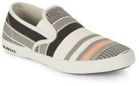 SeaVees Baja Striped Canvas Sneakers
