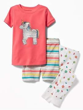 Old Navy Piñata-Graphic 3-Piece Sleep Set for Toddler & Baby