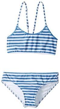 Seafolly Sapphire Coast Stripe Tankini Set Girl's Swimwear Sets