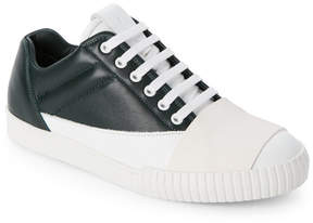 Marni Green Leather Cross Strap Sneakers