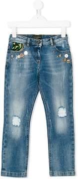 Dolce & Gabbana distressed embellished jeans