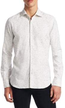 Saks Fifth Avenue COLLECTION Pixel Button-Down Shirt