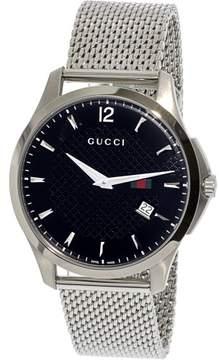 Gucci Men's Timeless YA126308 Silver Stainless-Steel Swiss Quartz Dress Watch