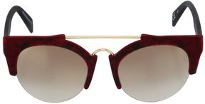Italia Independent Round Stone Velvet Sunglasses