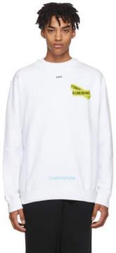 Off-White White Firetape Sweatshirt