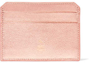 Mark Cross Metallic Textured-leather Cardholder - Copper
