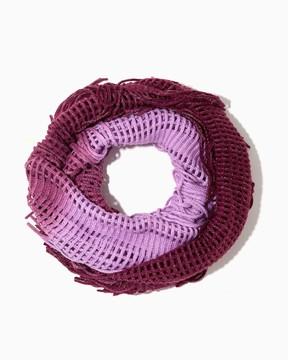 Charming charlie Shimmering Knit Fringe Scarf