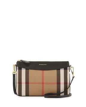Burberry House Check Crossbody Bag, Black - BLACK - STYLE
