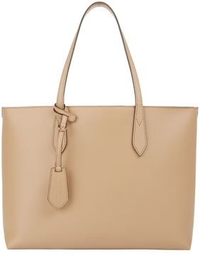 Burberry Medium Coated Leather Tote Bag - BEIGE - STYLE