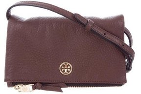 Tory Burch Mini Grained Leather Crossbody Bag - BROWN - STYLE