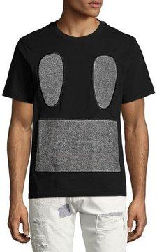 Mostly Heard Rarely Seen Carpet Face T-Shirt, Black