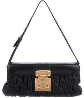 Miu Miu Matelassé Leather Shoulder Flap Bag