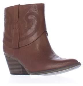 Mia Joshua Short Western Ankle Boots, Luggage.
