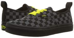 Vans Kids Authentic Elastic Lace Asphalt/Reflective) Boy's Shoes