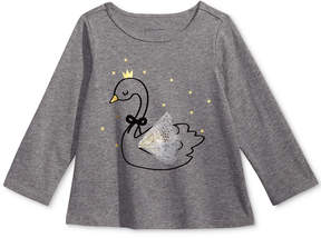 First Impressions Swan-Print T-Shirt, Baby Girls (0-24 months), Created for Macy's