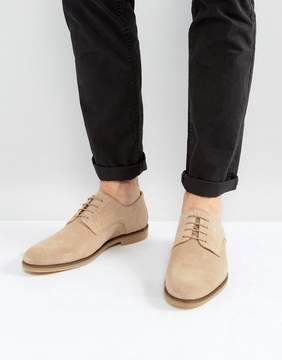 Zign Shoes Suede Desert Shoes In Stone