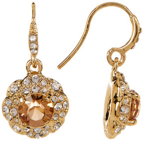 Carolee Pave Flower Drop Earrings