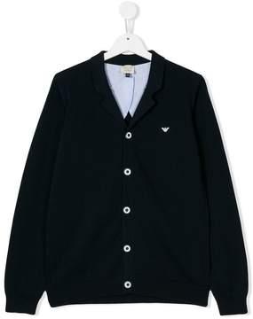 Emporio Armani Kids front button jacket