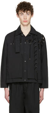 Craig Green Black Laced Workwear Jacket