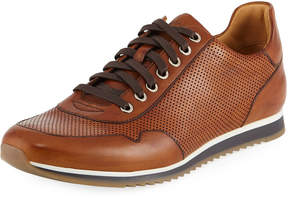 Magnanni Men's Butero Perforated Lace-Up Sneakers, Brown