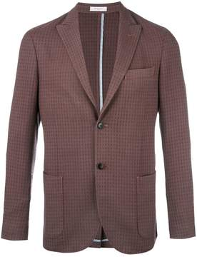 Boglioli pointed lapel plaid blazer