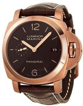 Panerai Luminor Marina 1950 3 Days Automatic Brown Dial 18 kt Rose Gold Men's Watch