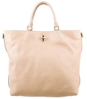 Dolce & Gabbana Leather Tote Satchel - NEUTRALS - STYLE